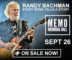 Randy Bachman - Every Song Tells a Story - September 26 at Memorial Hall