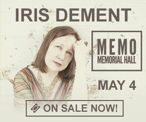 Iris DeMent - May 4 at Memorial Hall