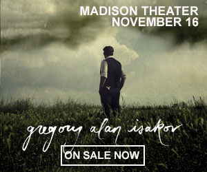Gregory Alan Isakov - November 16 at Madison Theater